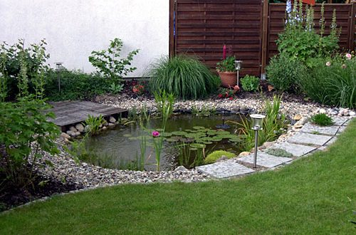 Decorative pond in the garden is like a mirror in your home