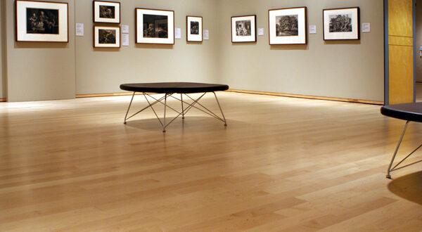 Hardwood flooring in a Gallery